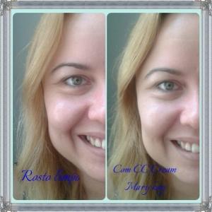 antes e depois cc cream
