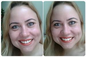 pó compacto pure makeup antes e depois