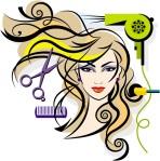desenho cabelo