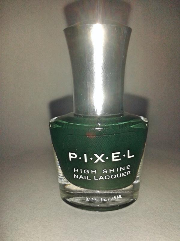 esmalte pixel verde