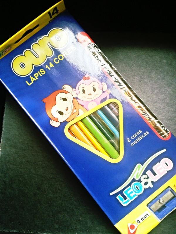 glambox  lápis de cor