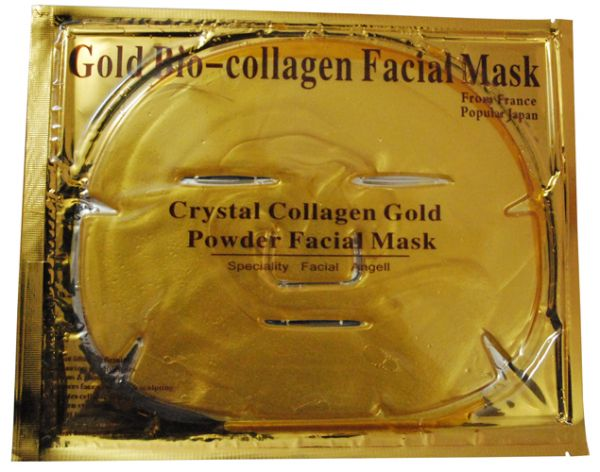 máscara de ouro e colágeno