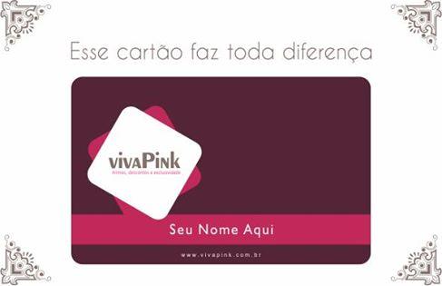 viva pink - cartão